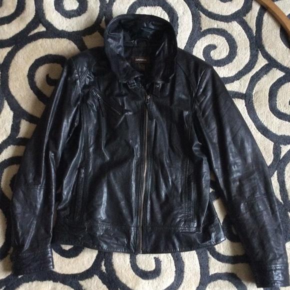 Danier Jackets & Blazers - Danier tailored-style moto/biker jacket black M